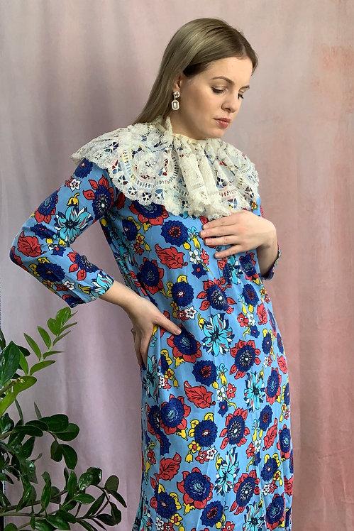 Flora - Vintage Handmade Floral Midi Dress