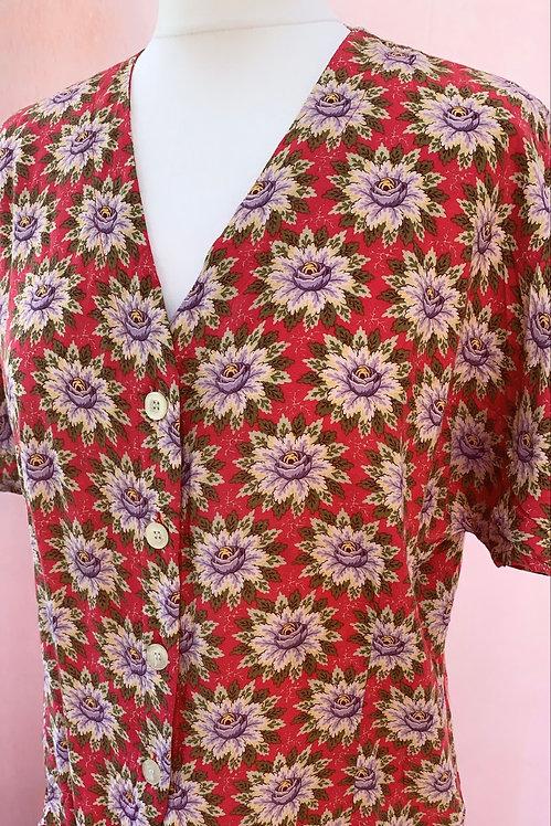 Delia - Vintage Floral Blouse
