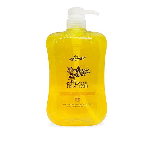Nuengnoelle Mineral Fresh Bath & Shower Gel เจลน้ำแร่ สีเหลือง 1,000 ml.