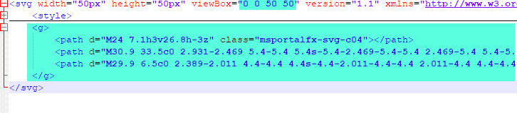 Example of SVG file markup