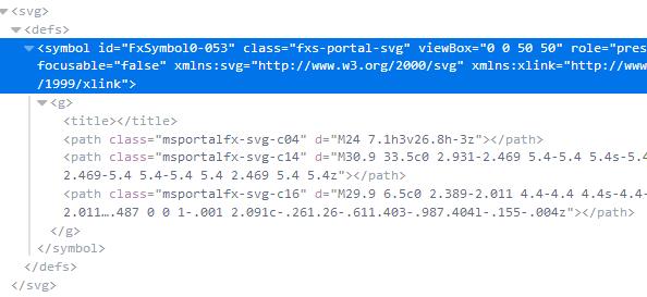 SVG code in browser's developer tools