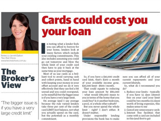 Could your credit card cost you an extra bedroom or force you to change suburb?