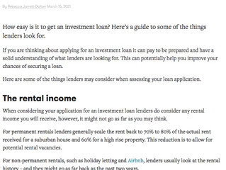 What to know when applying for a loan to invest in property