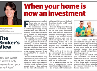 What to do when your old home - becomes your new investment property.