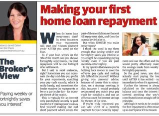 When do home loan repayments start?
