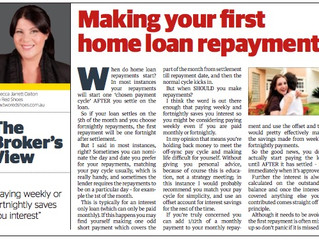 When do home loan repayments start?