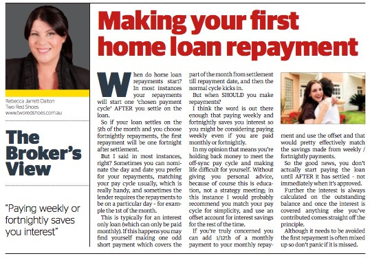 Making home loan repayments, should you pay weekly?