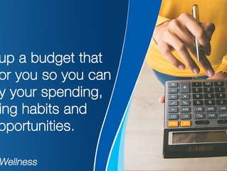 Write up a budget to identify opportunities