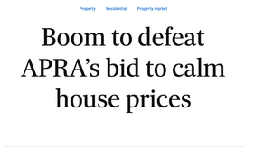APRA is making moves to quell the property boom - but will they work?