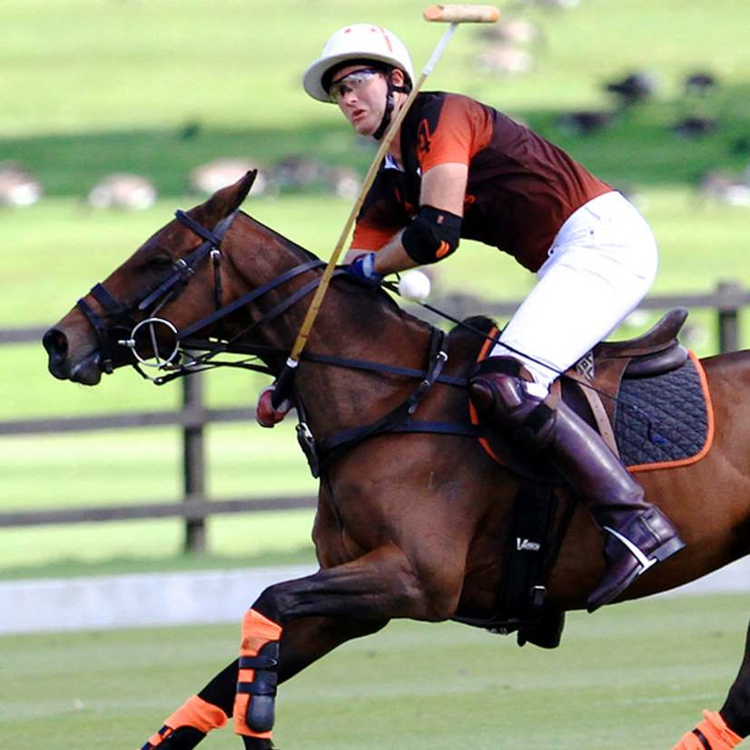 Tom Morley plays in Ainsley Polo saddles and tack