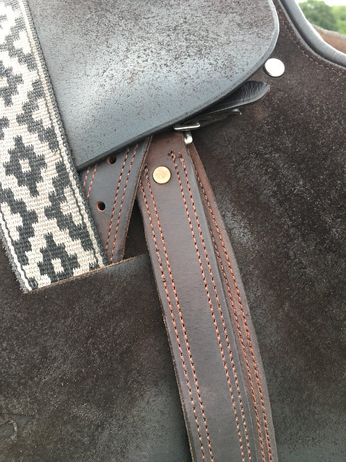 Ainsley no stretch triple layer stirrup leathers