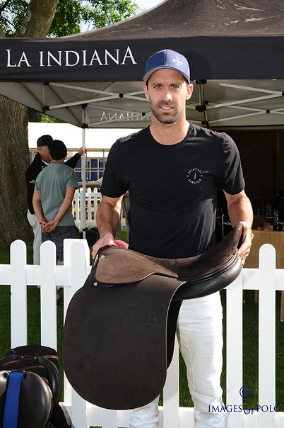 Facundo Pieres receiving his new MVP saddles