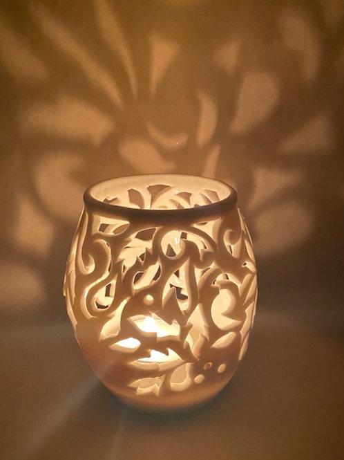 L25 Translucent porcelain carved lantern