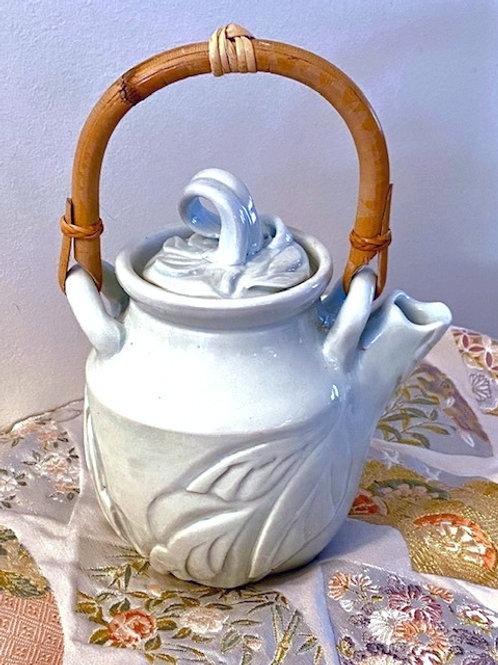 TP2  Little frosty blue porcelain teapot
