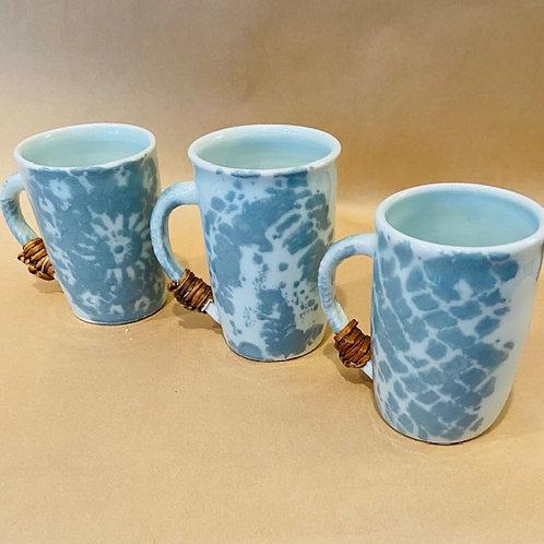 M5 Porcelain mugs, set of 3, vine handle