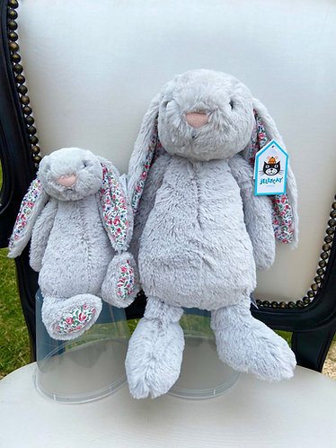 Jellycat Bashful Blossom Bunny Medium Grey