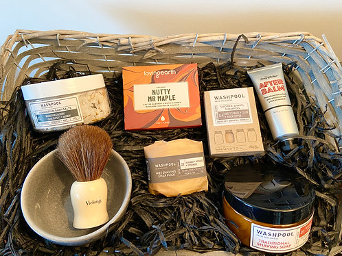 Men's Shave and Body Basket / Box.