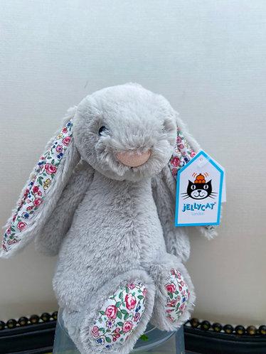 Jellycat Bashful Blossom Bunny Grey Small