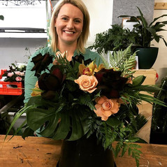 Black Rose Table Centres