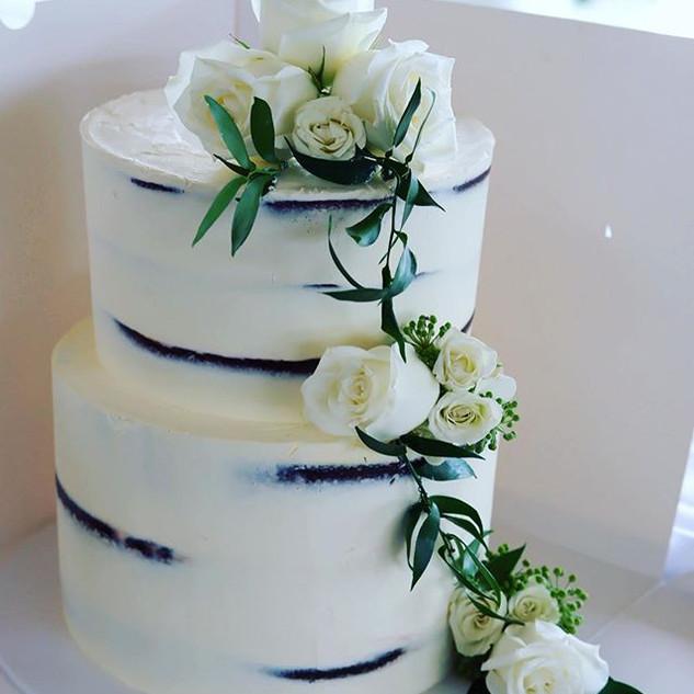 The beautiful cake finishing off this ma