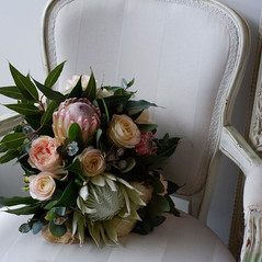 Gorgeous Native and Rose Wedding Bouquet