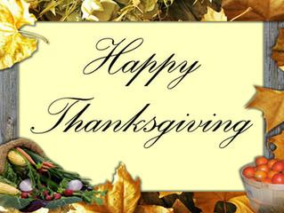 Thanksgiving Is Just Around The Corner