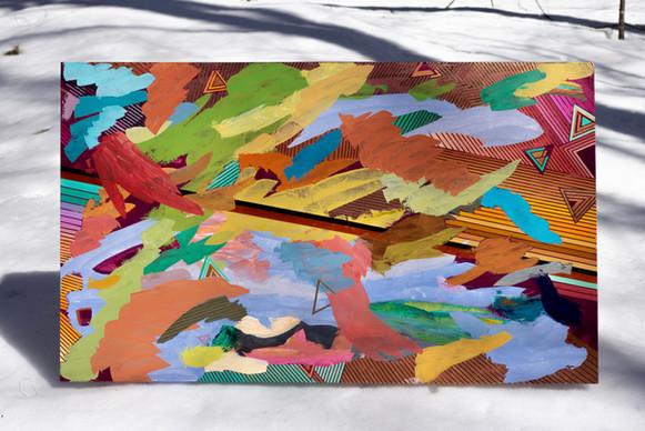 Acrylic on canvas 5'x 3'