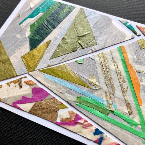 """Collaged cards - 4"""" x 6"""""""