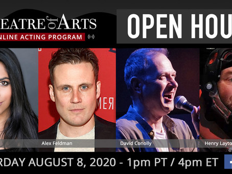 Online Acting Program Open House: August 8th