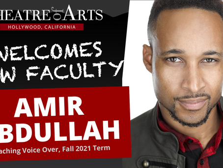 Amir Abdullah Joins TOA Faculty as Voice Over Instructor