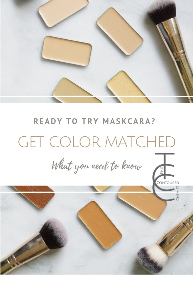 getting color matched with Maskcara IIID Foundation