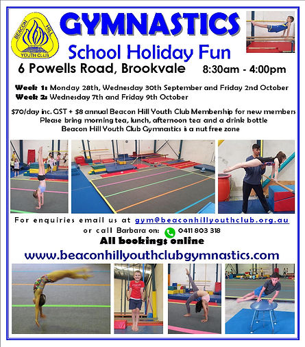 BHYC Gymnastics October School Holiday F