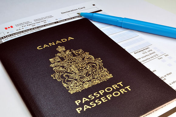 bigstock-Canadian-Passport-And-Customs-4