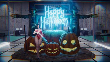 Halloween Lobby Entrance Setup