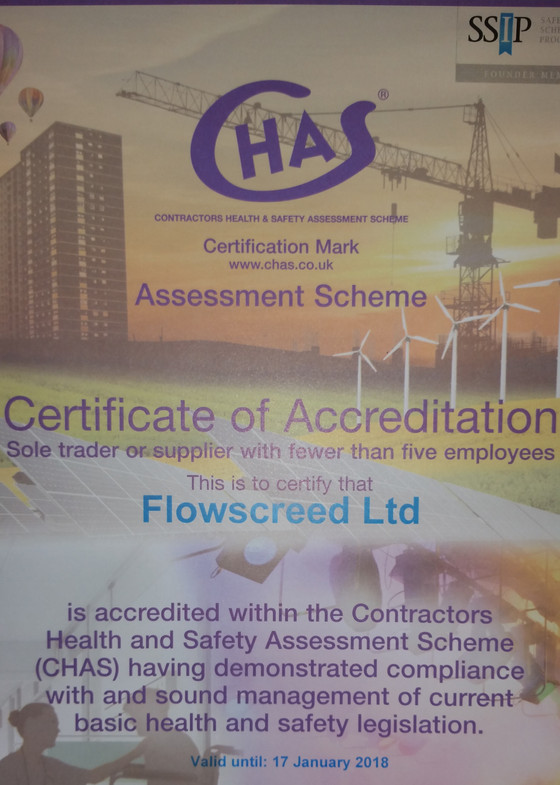 Flowscreed CHAS Approved Contractor.