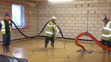 Pumping Liquid screed