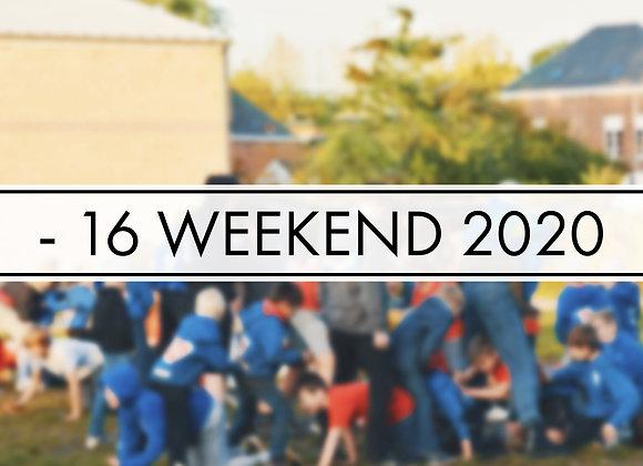 INSCHRIJVING -16 WEEKEND 2020
