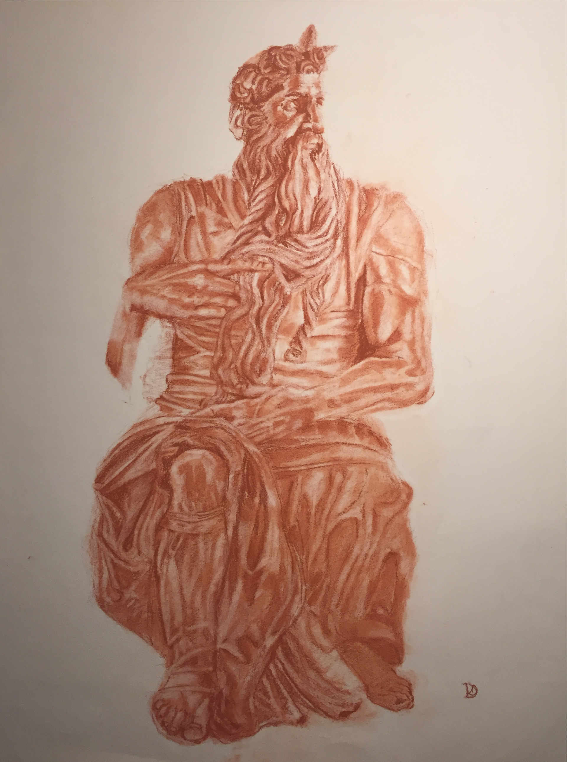 Study of Michelangelo's Moses