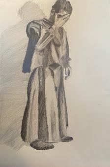 Self Portrait in Cardinal Robe 4