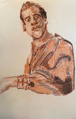 Self Portrait in Cardinal Robe