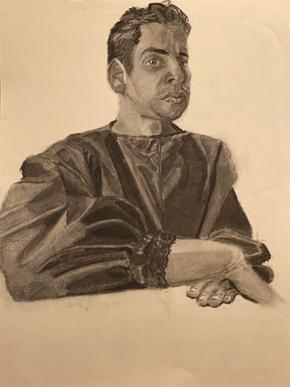 Self Portrait in Cardinal Robe 6