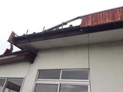 軒先鼻隠し台風被害現況