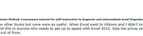 Learn Excel 2016 Essential Skills with The Smart Method: Excel Book Review