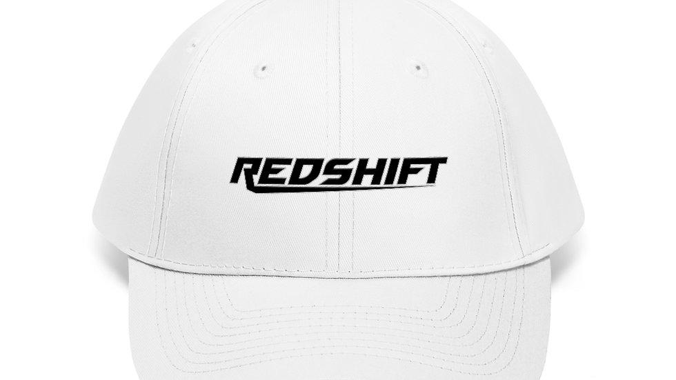 Sleek Black Logo With White Unisex Twill Hat