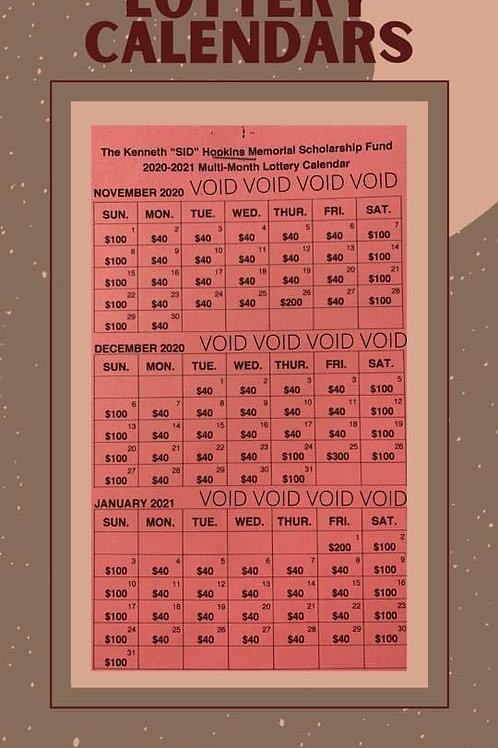 2020 Lottery Calendar