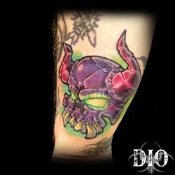 purple demon skull