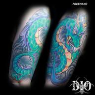 freehand green & purple asian dragon.jpg
