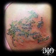 dream wish believe dandelion & dragonfly
