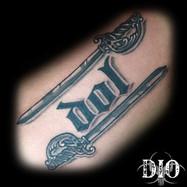 dol script with rapier swords black & gr