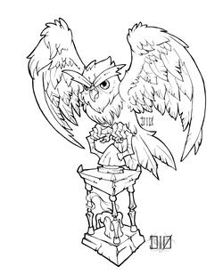 lantern owl_vectorized